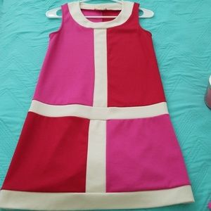 Monteau colorblock sleeveless dress